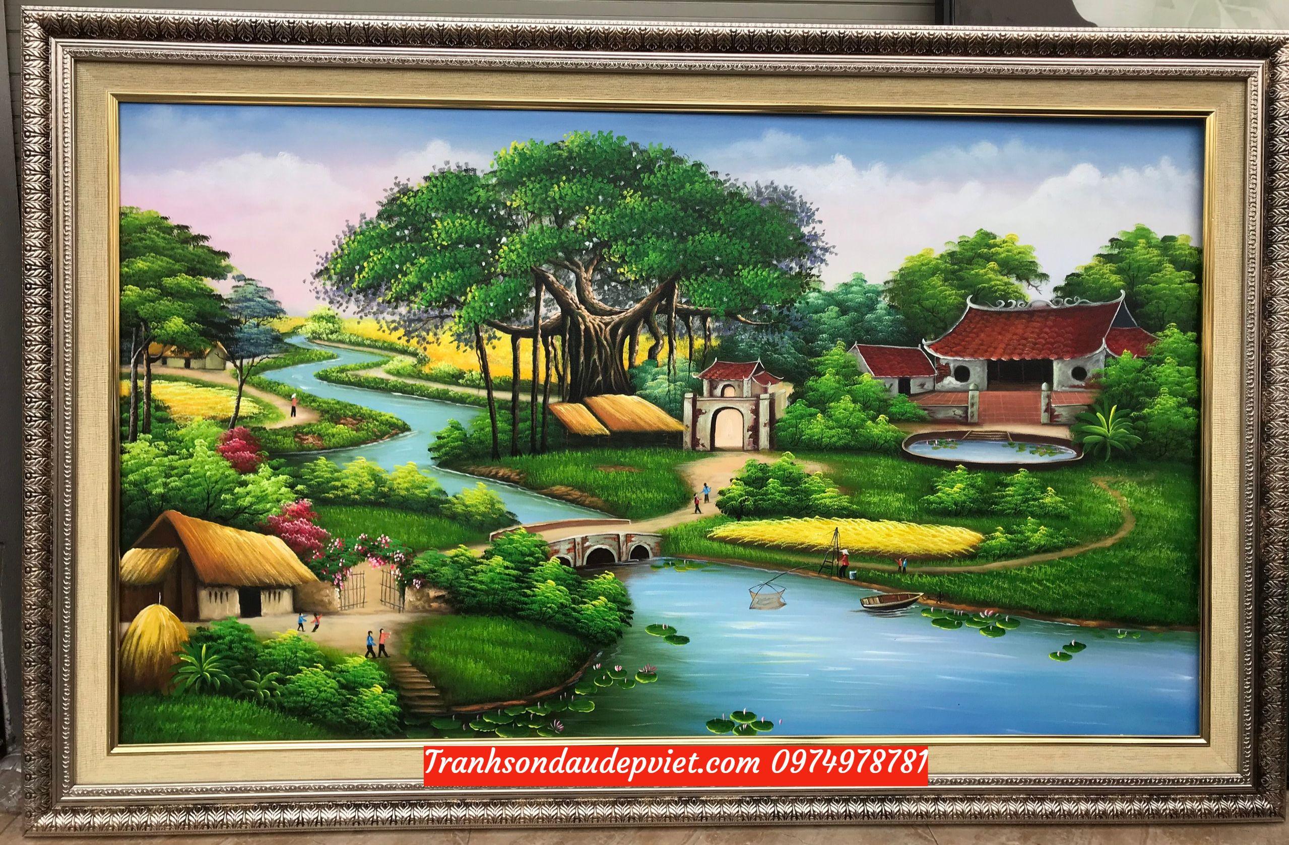 Tranh đồng quê việt nam, Tranh sơn dầu đồng quê đẹp SD002