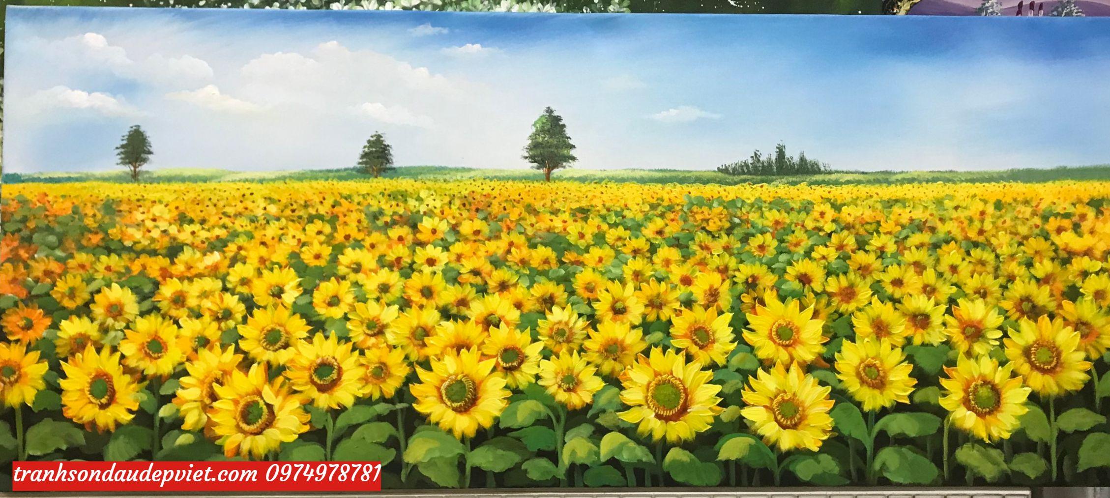 tranh hoa hướng dương