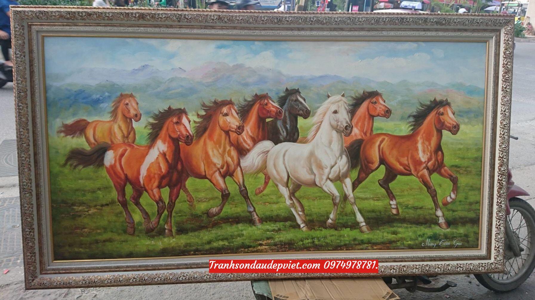 Tranh mã đáo thành công, tranh vẽ sơn dầu SD010