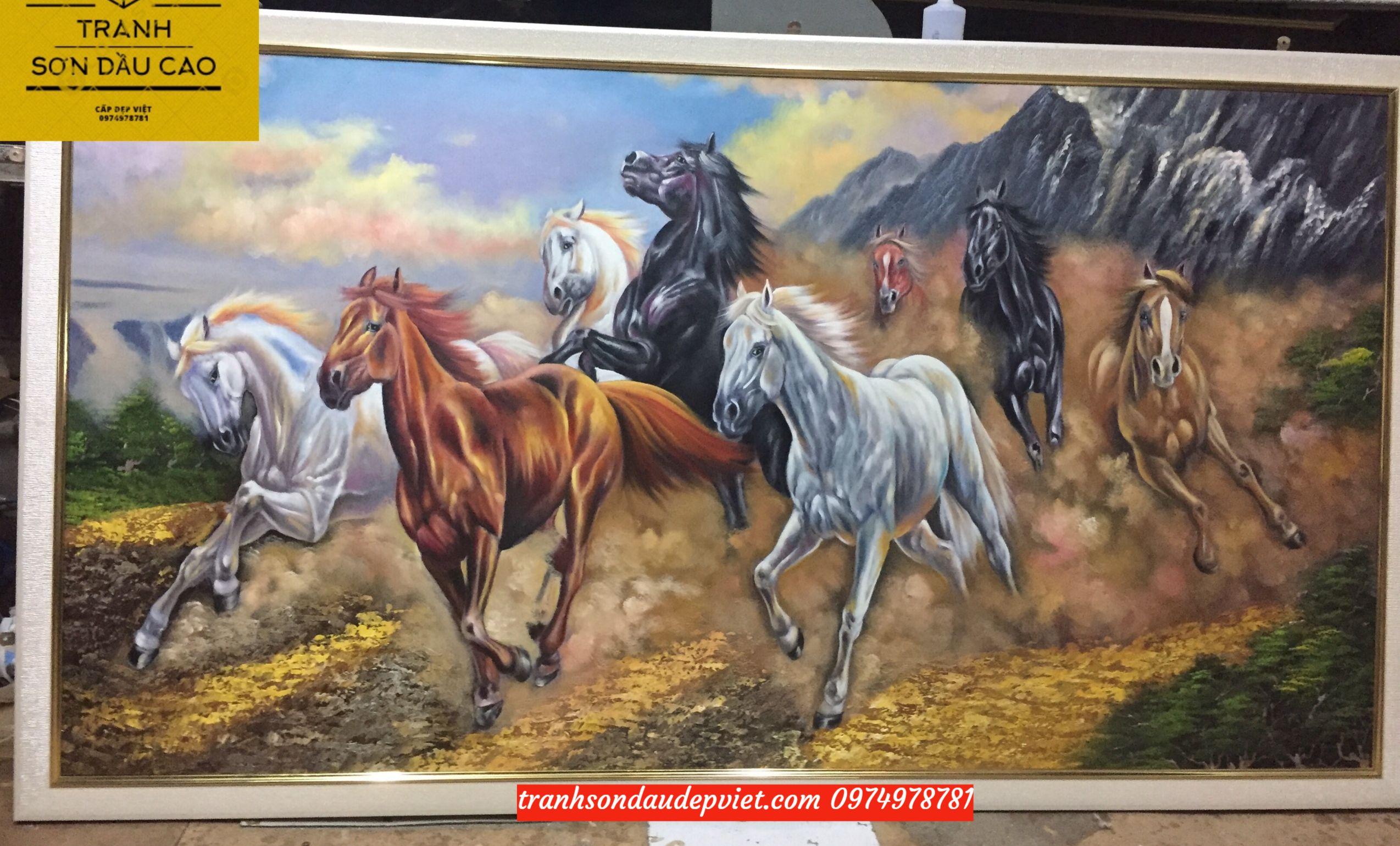 Tranh mã đáo thành công, tranh vẽ sơn dầu SB009