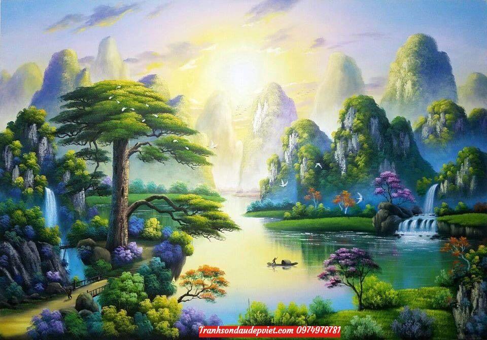 Tranh sơn dầu sơn thủy, tranh phong cảnh SD0021