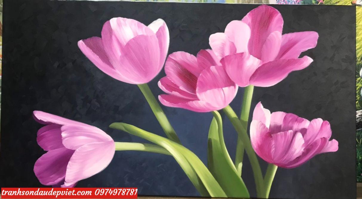tranh hoa tulip