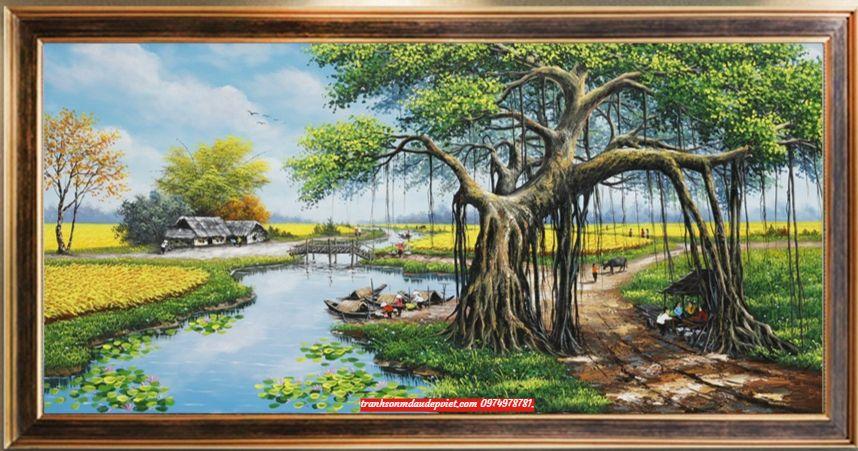 Tranh phong cảnh đồng quê việt nam SD0055