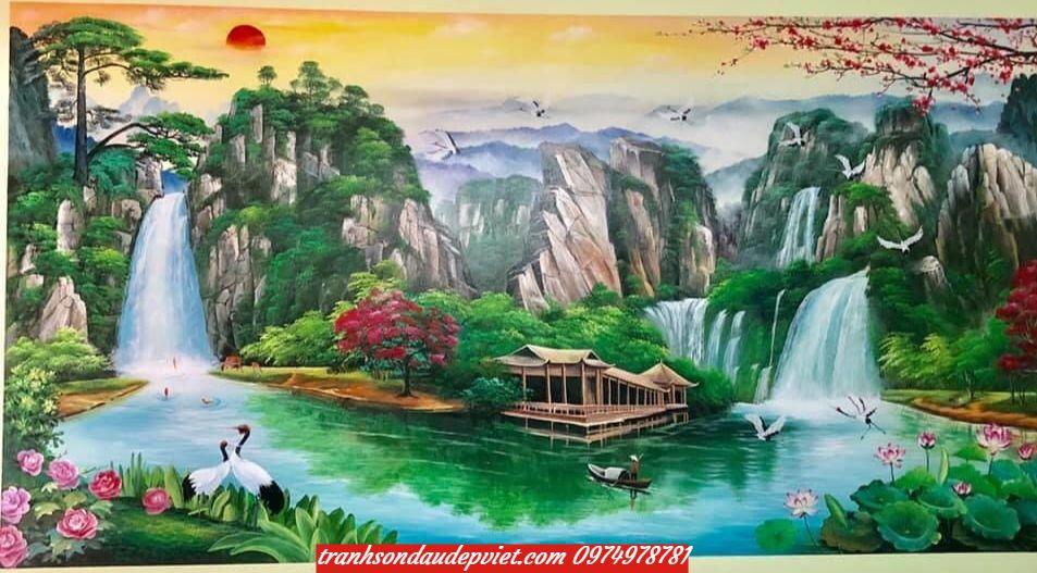 Tranh Sơn thủy, tranh sơn thủy hữu tình SB0046