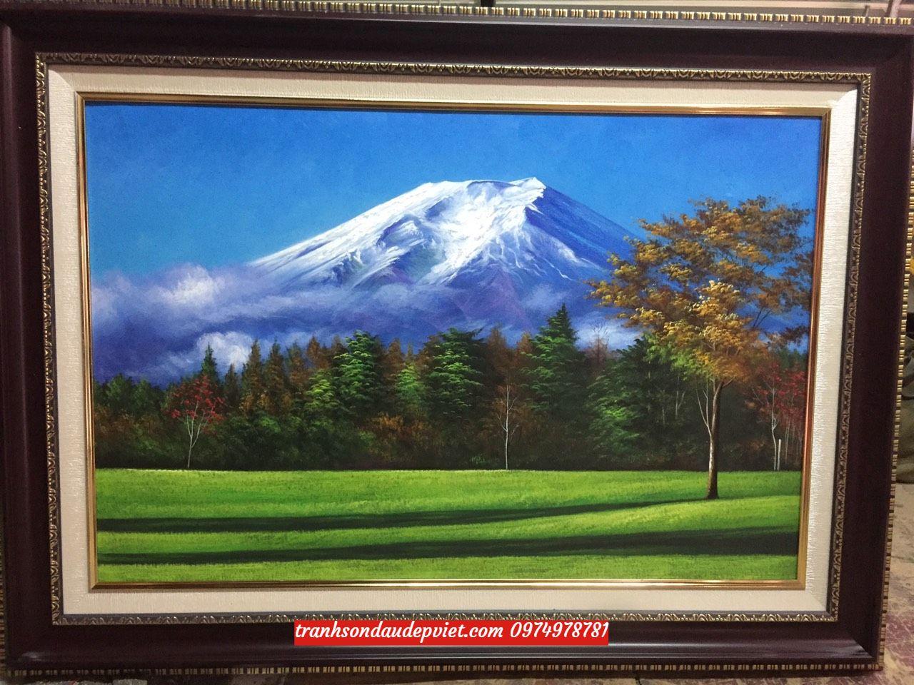 Tranh sơn dầu núi phú sĩ SB181